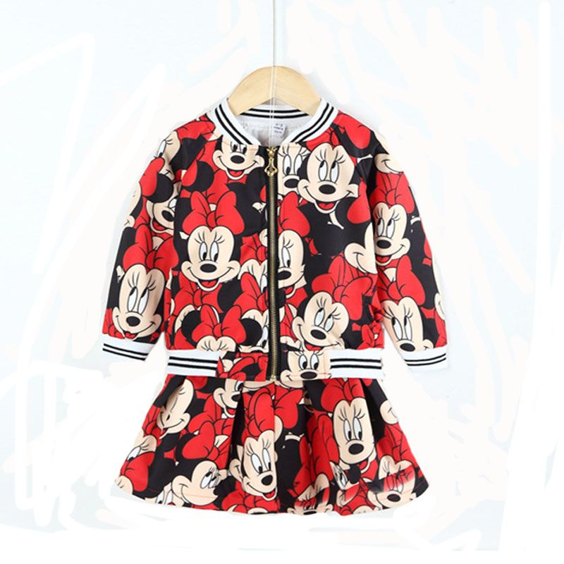 2016 New Girls Skirt Suits Long Sleeve Infant Baby SkirtCoat Cartoon Chirldren Clothing Set Two Pieces For Spring https://t.co/ug3dd7z2H8