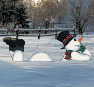 Lazy Yard Snowman Woodcraft Pattern Look Who S Relaxing In