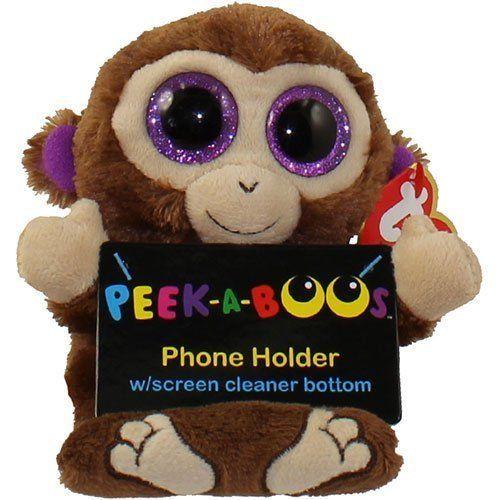 4fe6e83a3cc Ty Peek-A-Boo Phone Holder Chimps Screen Cleaner Bottom Plush Smartphone  text  Ty