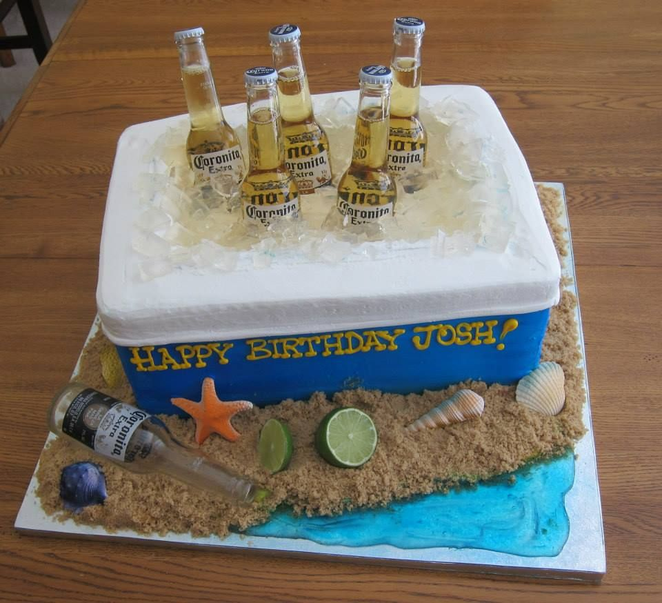 Outstanding Ice Chest Of Coronas In A Cooler Cake Beer And Cake Does It Get Birthday Cards Printable Opercafe Filternl