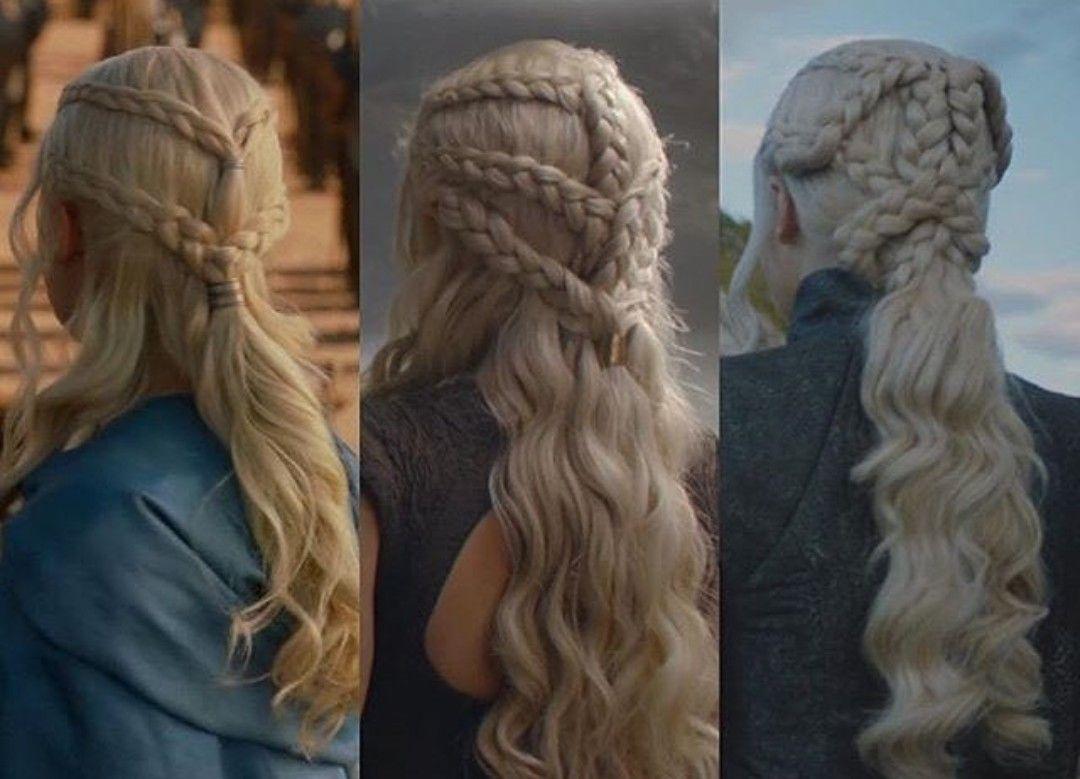 Clásico y sencillo peinados daenerys targaryen Imagen de estilo de color de pelo - Daenerys Targaryen hair   Peinados medievales, Peinados ...