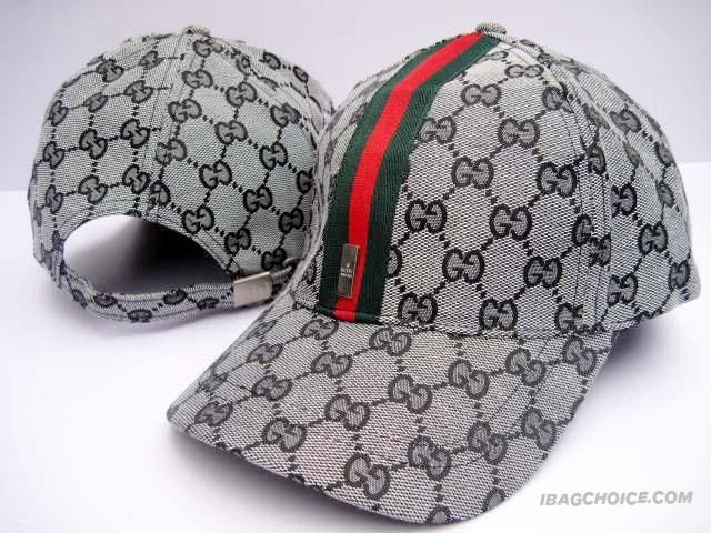 Gucci Caps Grey GG With Green Stripe  2da5166fcef