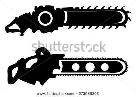 Chainsaw Stock Vectors Vector Clip Art Chainsaw Silhouette Vector Vector