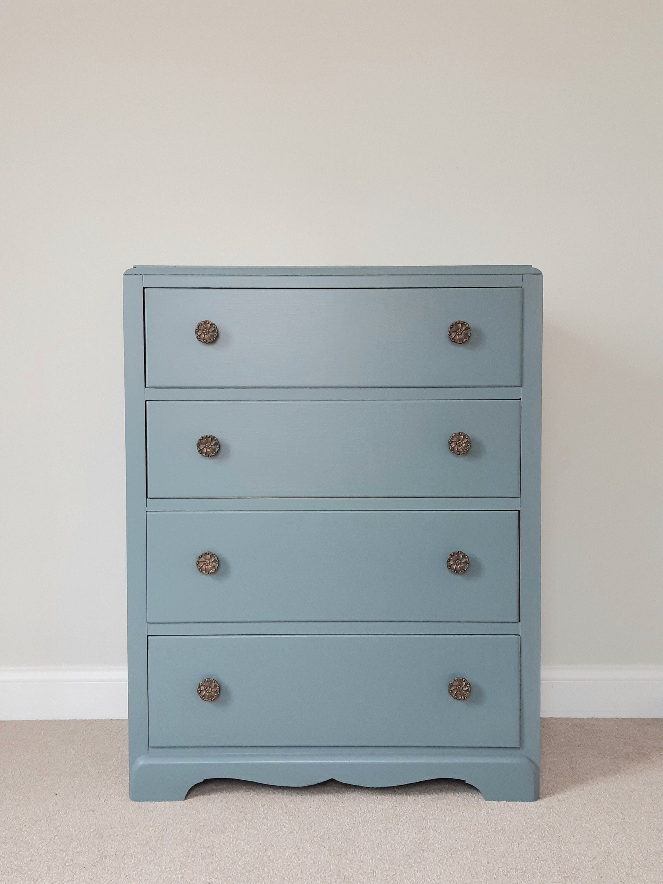 Stunning Vintage Chest Of Drawers Painted In Farrow Ball De Nimes Vintage Chest Of Drawers Vintage Chest Blue Cupboards