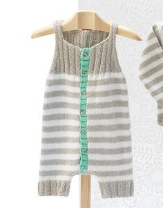knitted summer bodysuit/pelele de verano tricot