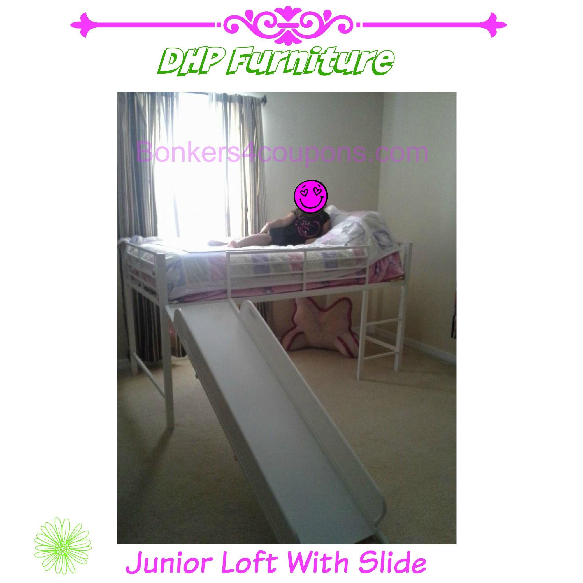 Junior loft bed with stairs  DHP Furniture Junior Loft Bed wSlide  Sunshine and Flip Flops