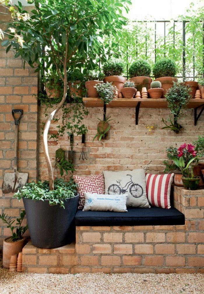 Jardin en peque os espacios ideas para cultivos y deco for Deco jardin pequeno