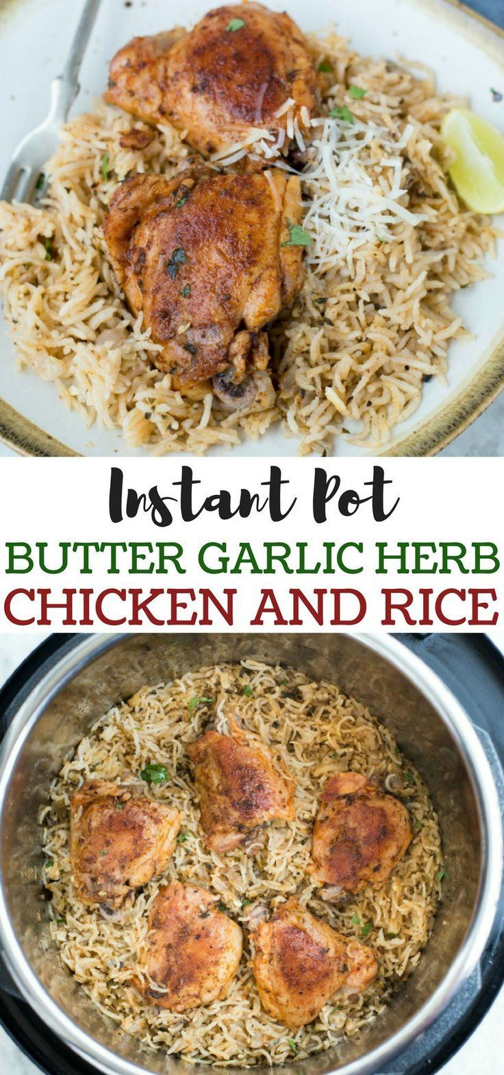 INSTANT POT GARLIC HERB CHICKEN AND RICE -   19 healthy instant pot recipes chicken easy ideas