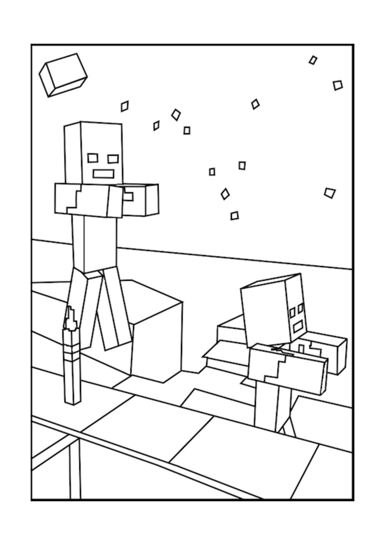 A Minecraft Zombie Coloring Page Coloring Pages Inspirational