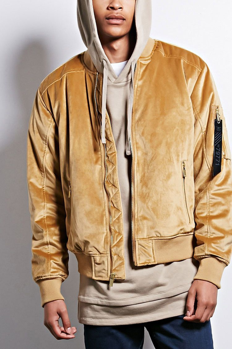 9139a895b78f A padded velvet bomber jacket by Jordan Craig™ featuring ribbed knit trim