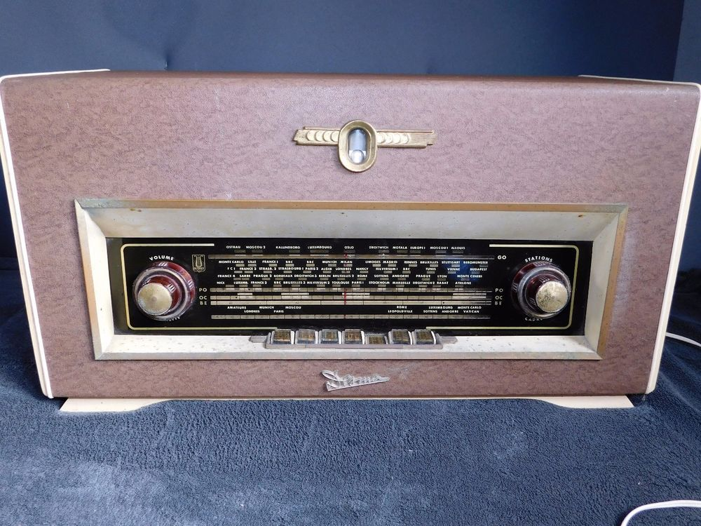 ANCIENNE RADIO TSF DESMET FONCTIONNELLE   DECO RETRO COLLECTION