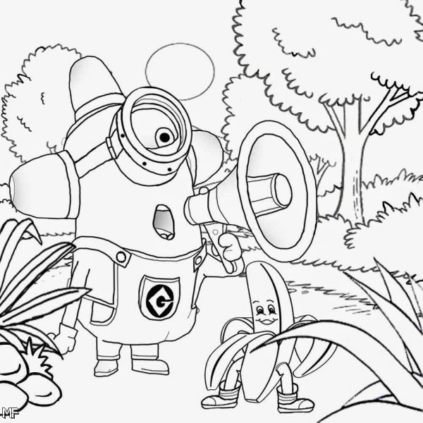 Minions 2015 Coloring Pages 6