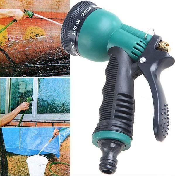 Flexible Garden Hose Water Pipe With 7 In 1 Spray Gun