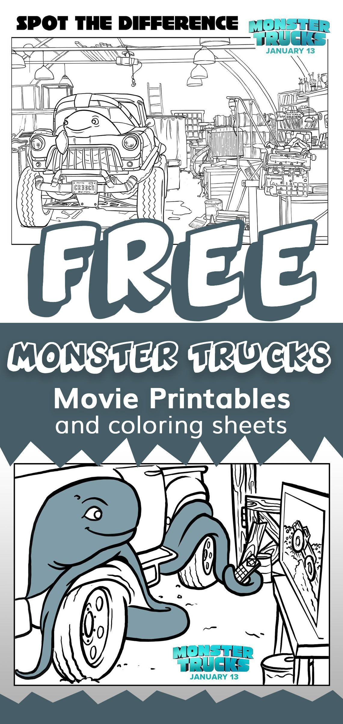 Monster Trucks movie printable, coloring, and activity sheets | Free ...