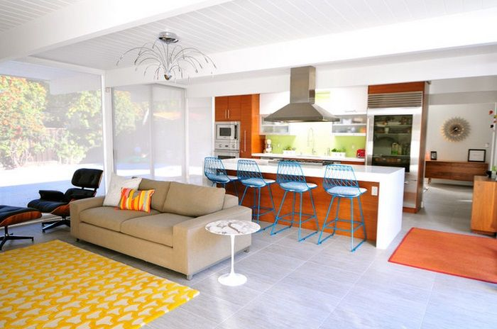 Pin By Premier Lighting On Modern Lighting Mid Century Modern Living Room Home Kitchen Styling Modern #refrigerator #in #living #room