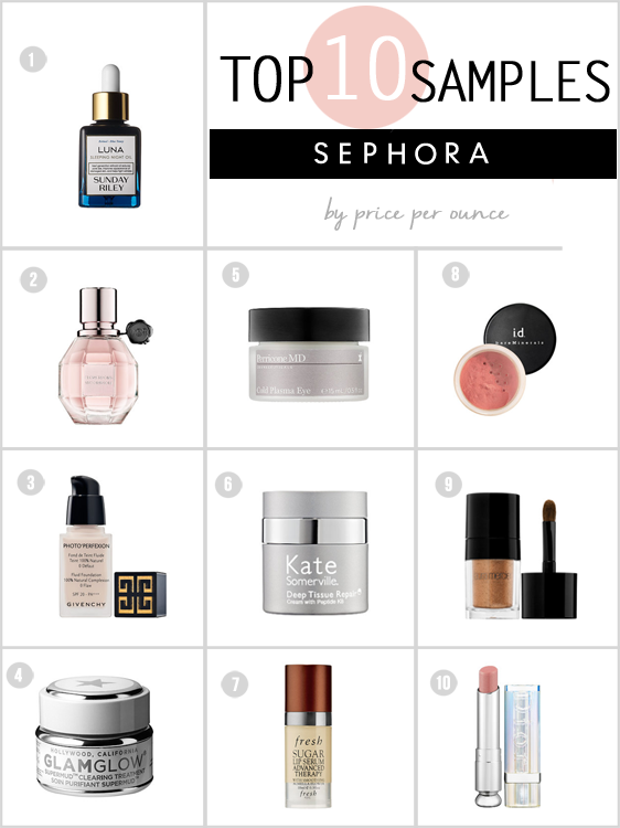 10 Surprising Samples You MUST Request at Sephora