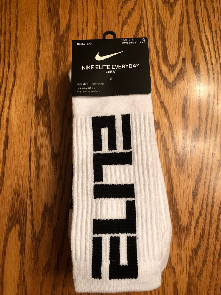 dc13b1ec6 Nike Elite Everyday Basketball Dri-FIT Crew Socks White Size Mens 8-12 3- Pack #fashion #clothing #shoes #accessories #mensclothing #socks (ebay link)