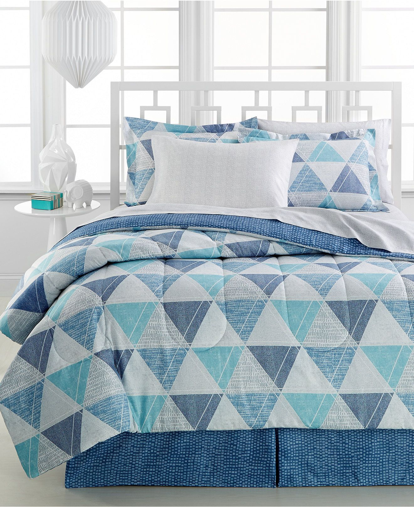 CLOSEOUT Blake 8 Pc Bedding Ensembles Reversible Bed in a Bag