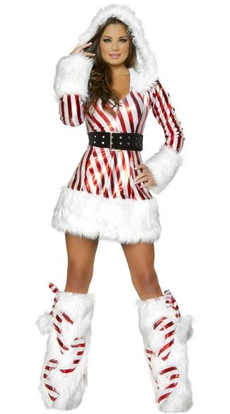 Candy Cane Hooded Dress- one of the flyest X-mas outfits Iu0027ve  sc 1 st  Pinterest & Candy Cane Hooded Dress | Candy cane costume Candy canes and Costumes