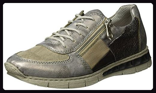 Rieker Damen M2840 Sneakers, Grau (GreyStoneFango Silver