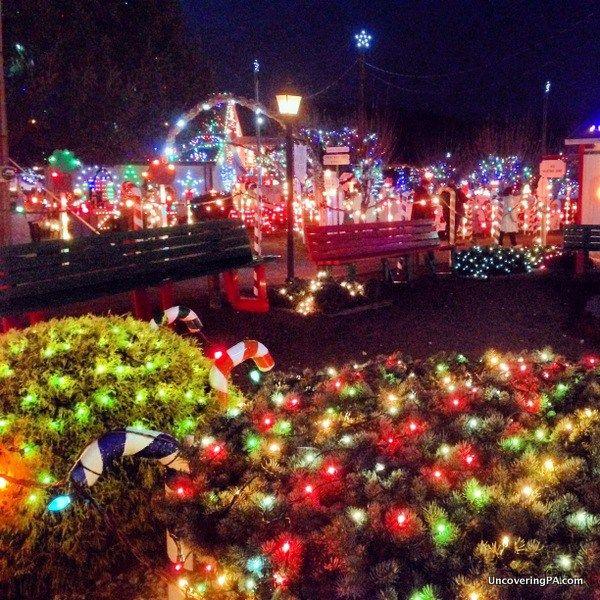 lights glow at koziars christmas village in berks county pennsylvania