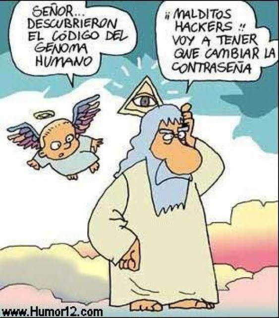 chiste grafico dios genoma humano