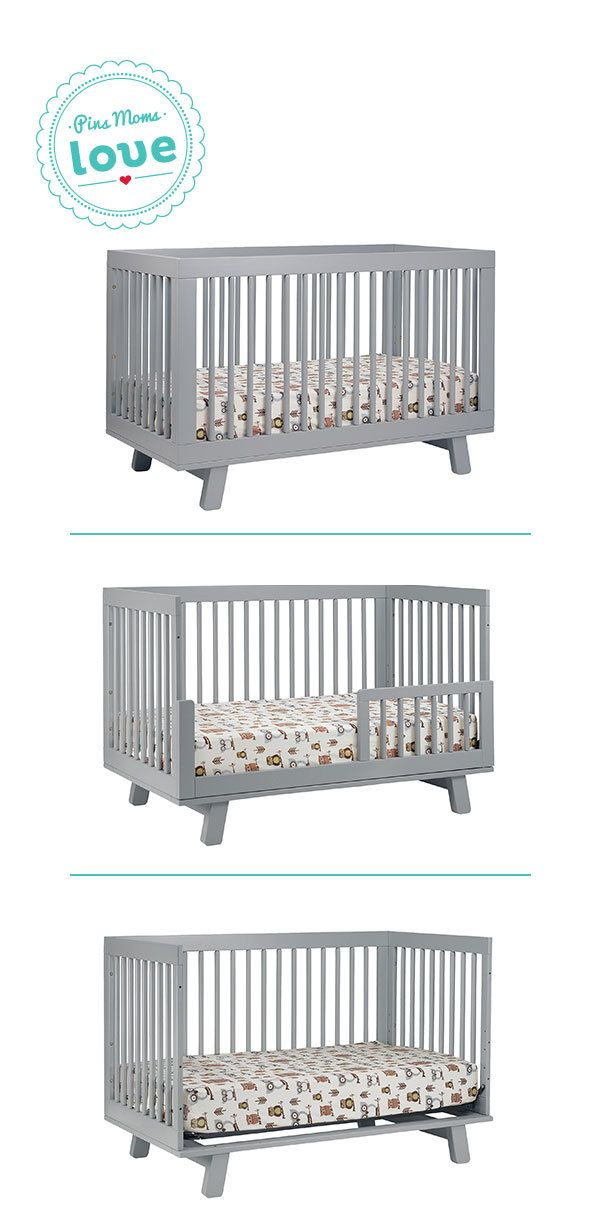 Babyletto Hudson 3 In 1 Convertible Crib With Toddler Rail Bebe