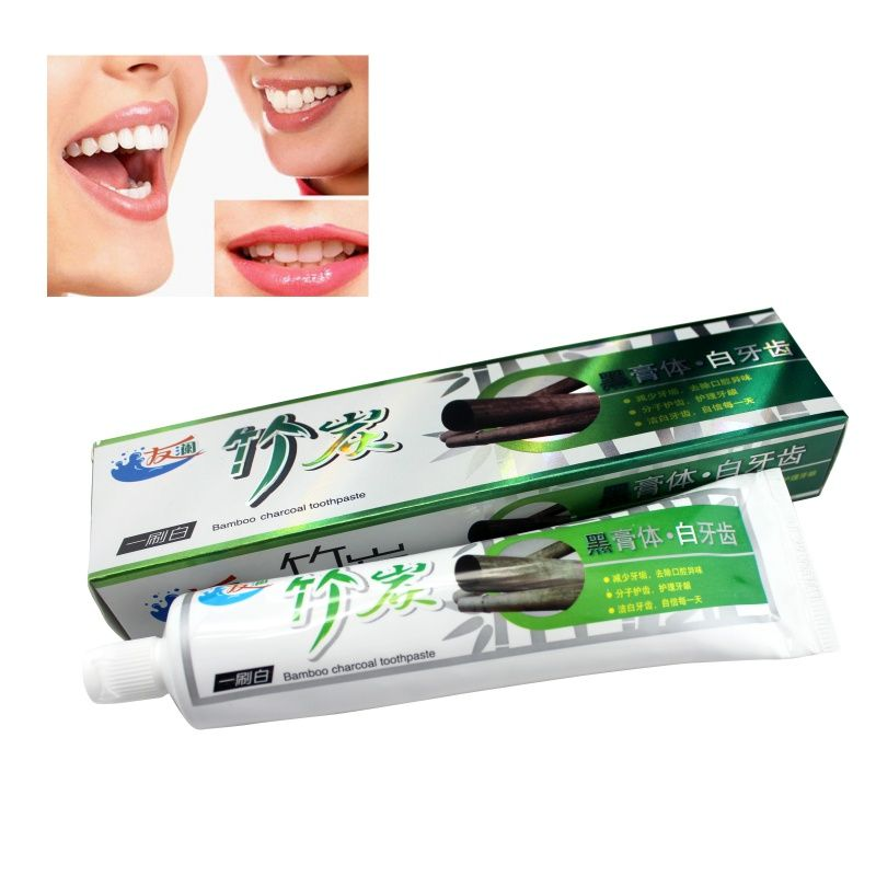 Black Toothpaste Bamboo Whitening Salt Charcoal Oral Hygiene Anti