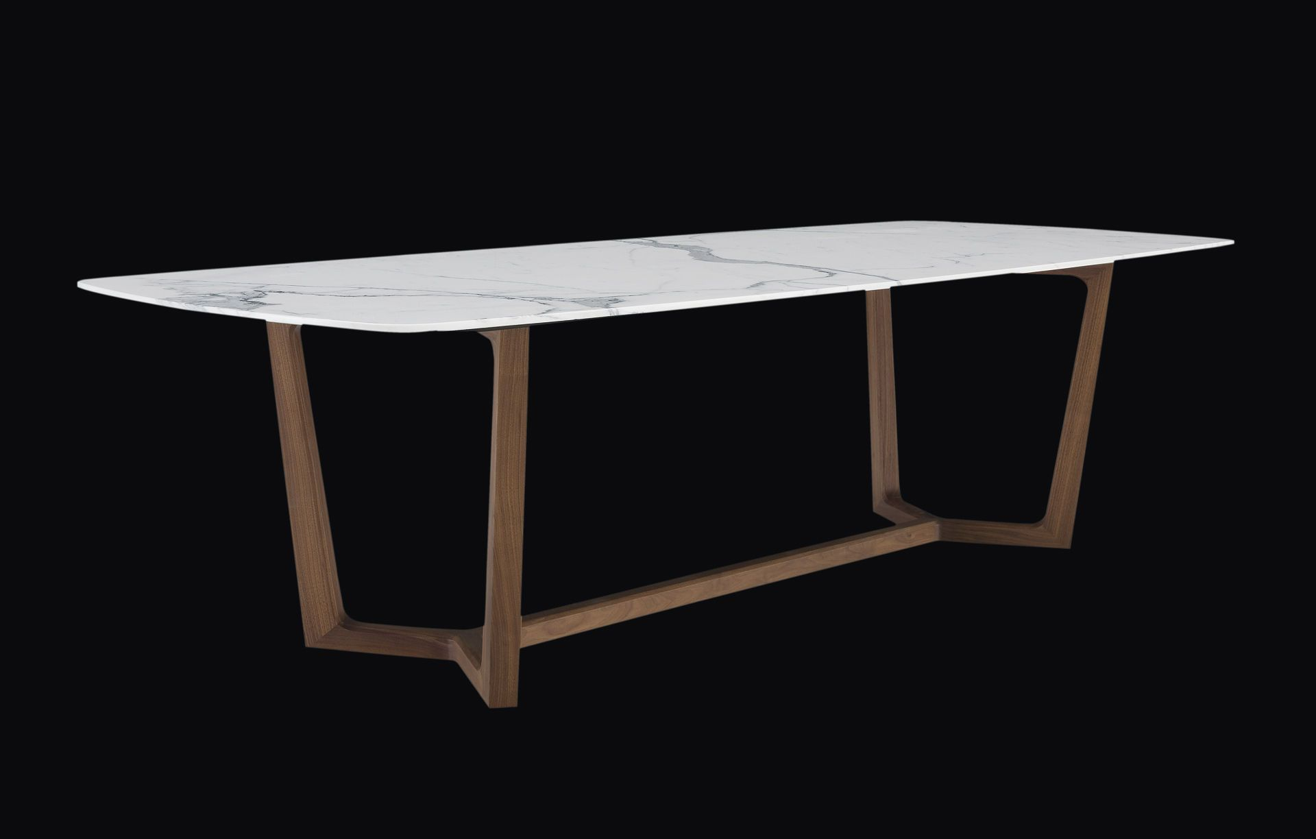 Contemporary wood and marble dining table CONCORDE by Emmanuel