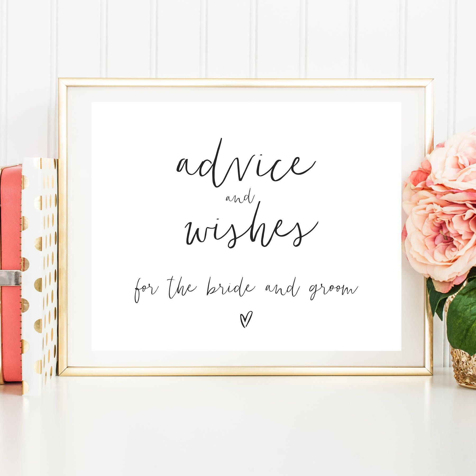Advice And Wishes For The Bride And Groom Printable Advice Sign