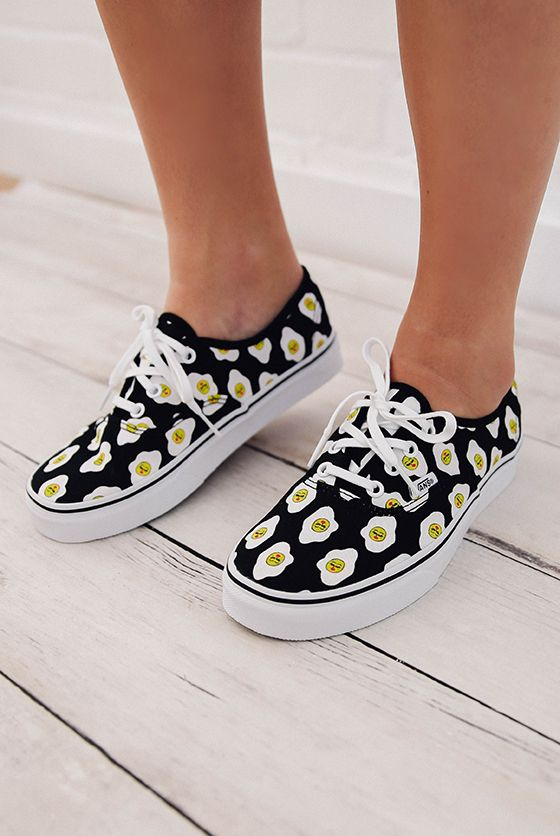 dc82ea2ccb2d Vans Kendra Dandy Authentic Sassy Side Sneaker - Black Print from  peppermayo.com