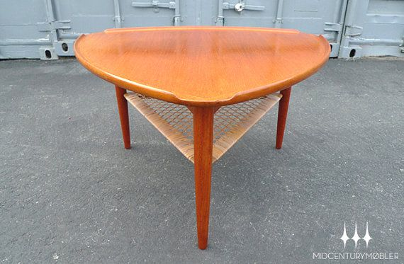 Danish Modern Mid Century Guitar Pick Coffee Table by Poul Jensen