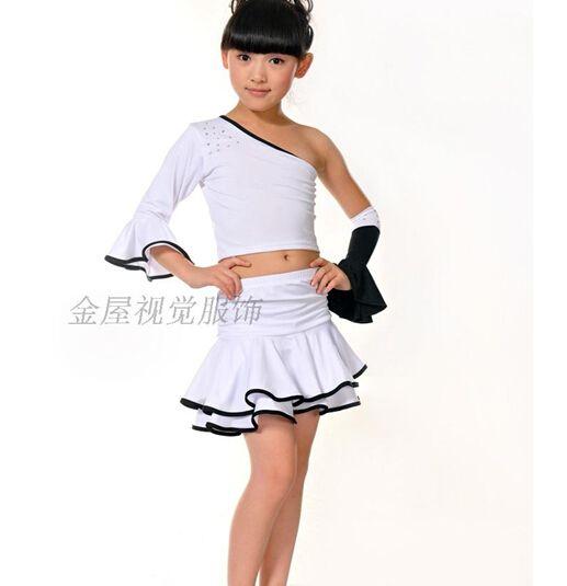 newest 10d65 7af16 Cheap Abito nero ballo latino per la ragazza altezza bambino ...