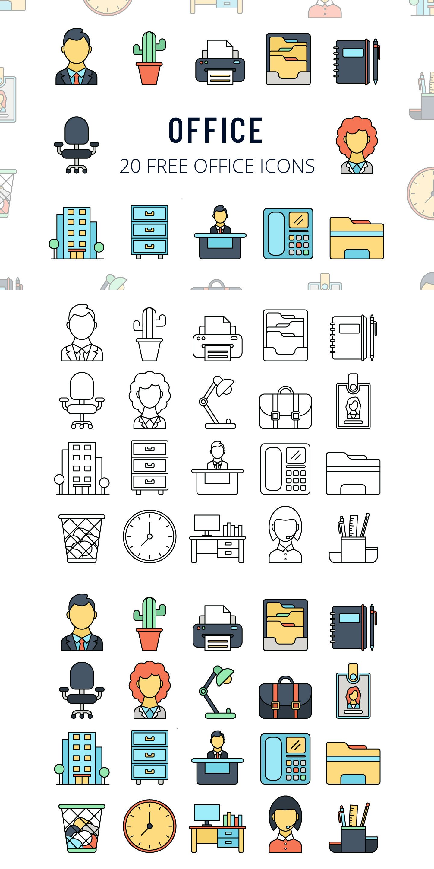 Office Vector Free Icon Set Icon set, Office icon