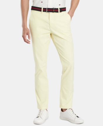 42e50e43 Tommy Hilfiger Men's Th Flex Stretch Slim-Fit Chino Pants, Created for  Macy's - Yellow 30x32
