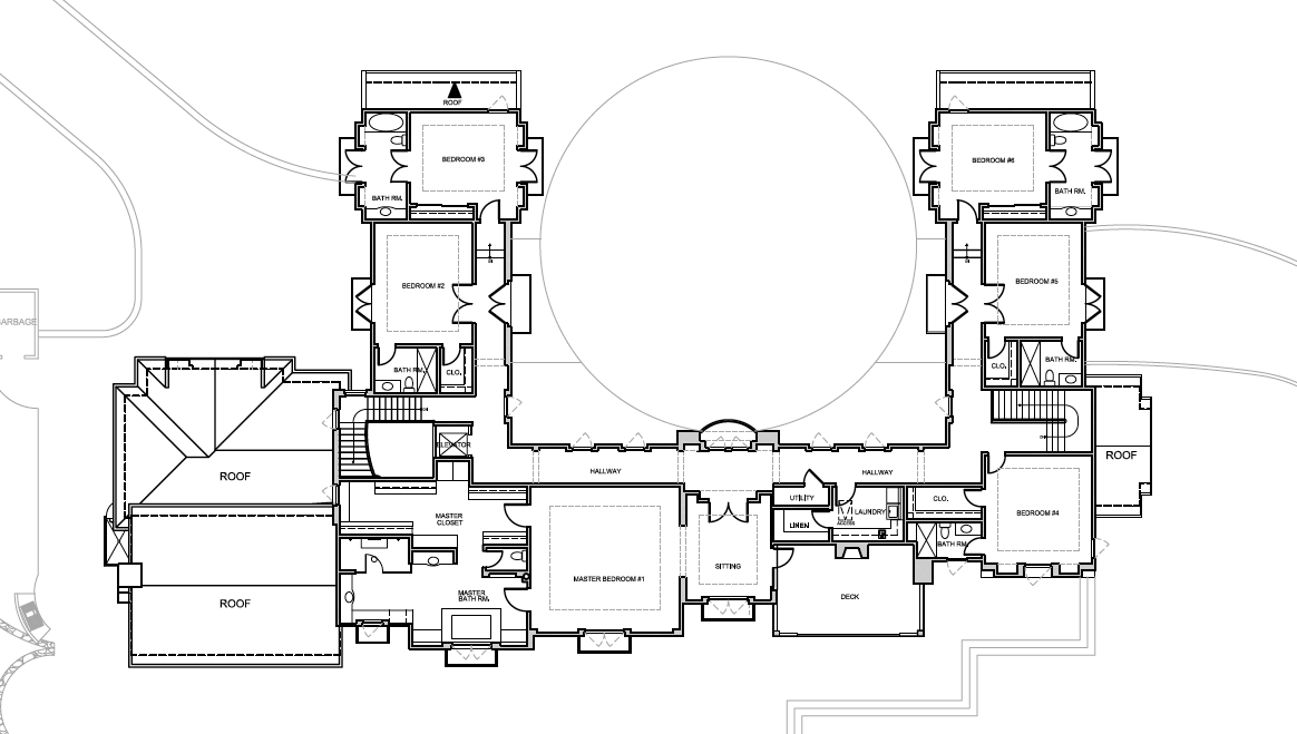 mansion floor plans: 3115 ralston avenue, hillsborough, california