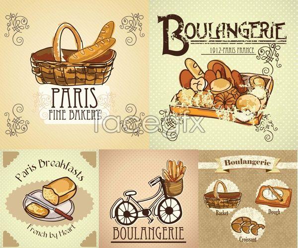 bread illustration vector
