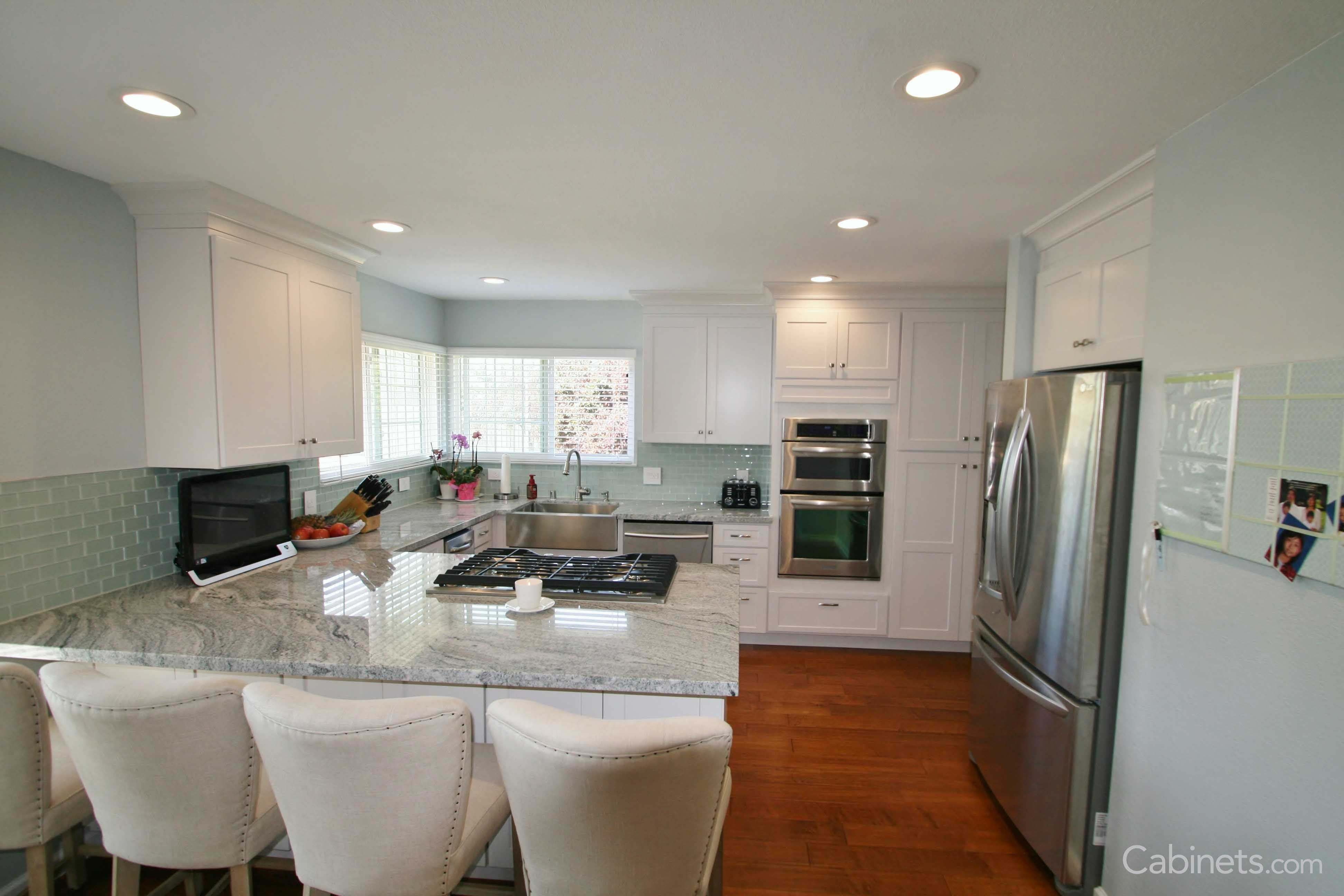 One of the great features of white cabinetry is that it ...