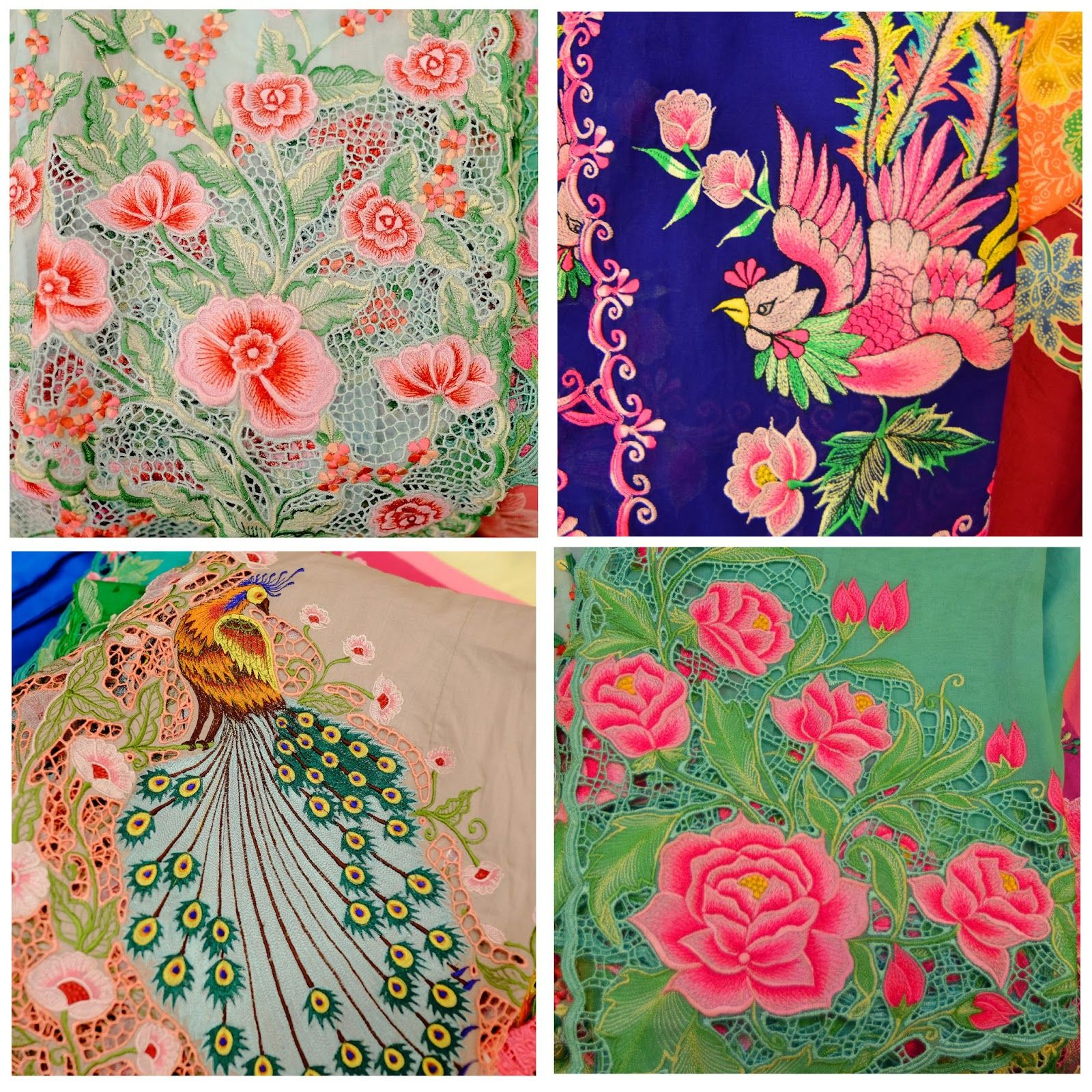 Motif Batik Bunga Berwarna - Batik Indonesia