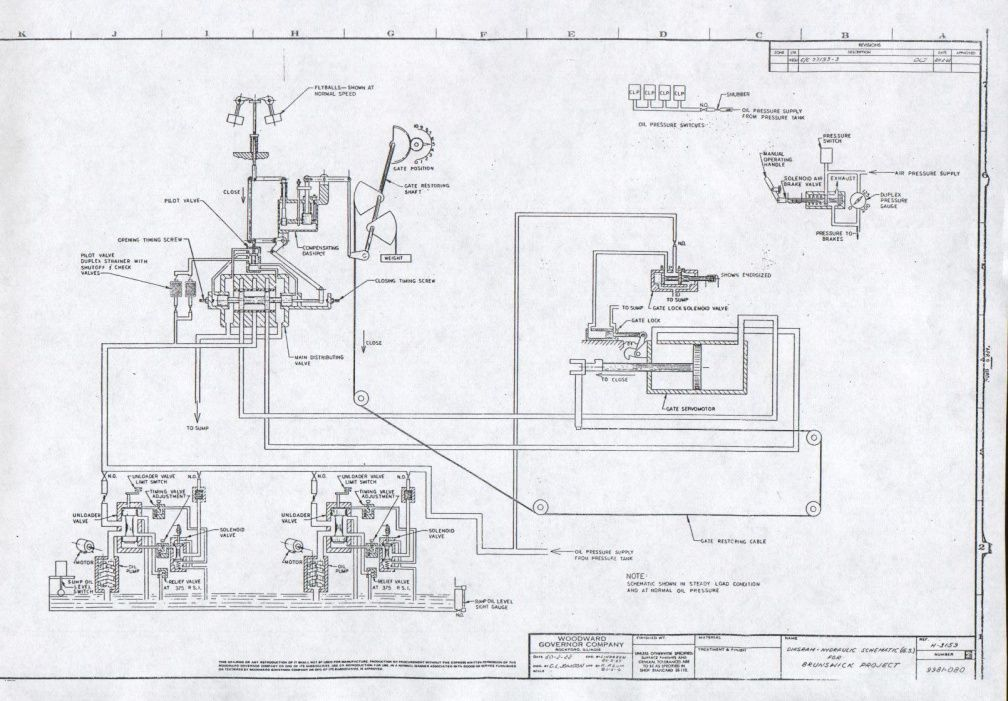 woodward governor drawing for the brunswick hydro project