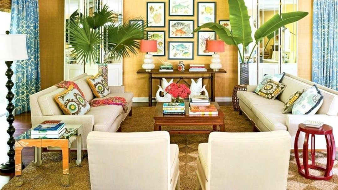 15 Fascinating Tropical Living Room Interior Style Ideas With