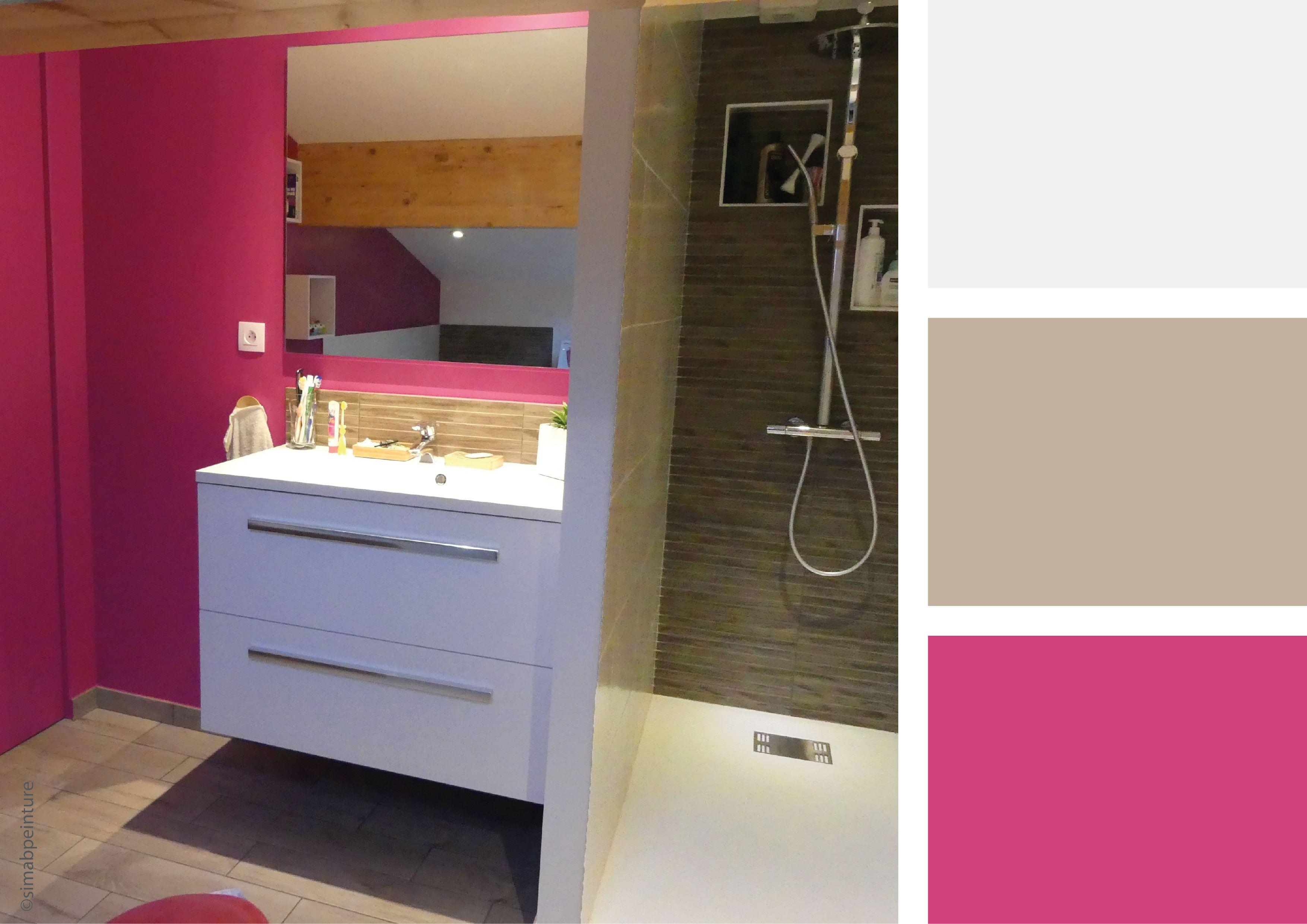 Salle de bain rose osez une déco flashy Avec une association de