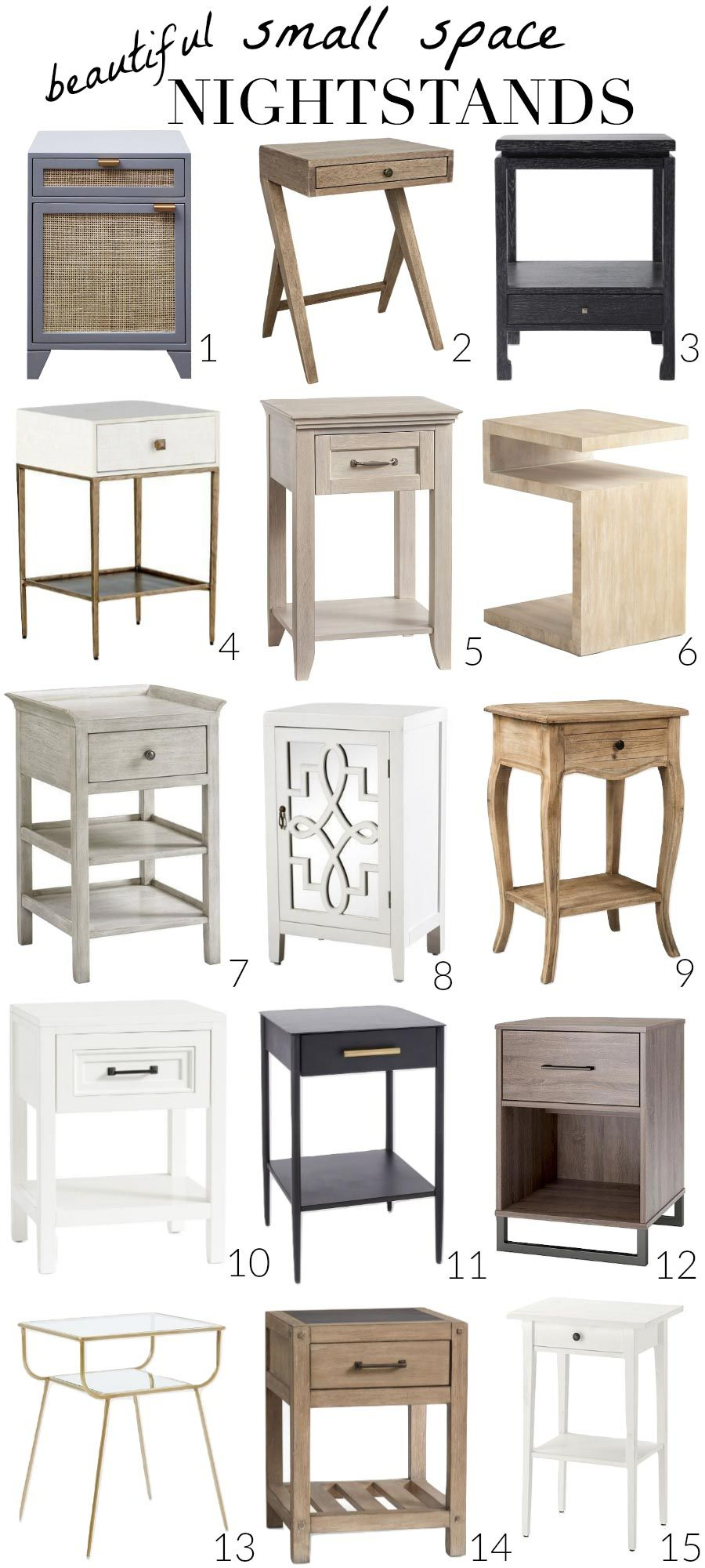 Favorite Narrow Nightstands for Small Space Bedrooms