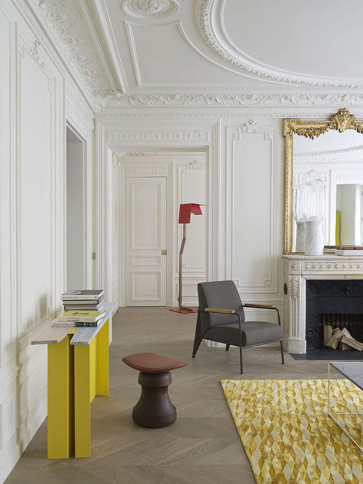 Elegant Lines And Designer Furniture Beautiful Apartment In Paris