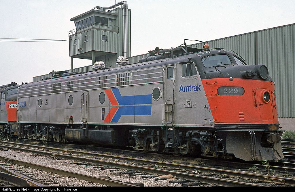 RailPictures.Net Photo: AMTK 329 Amtrak EMD E8(A) at Chicago, Illinois by Tom Farence