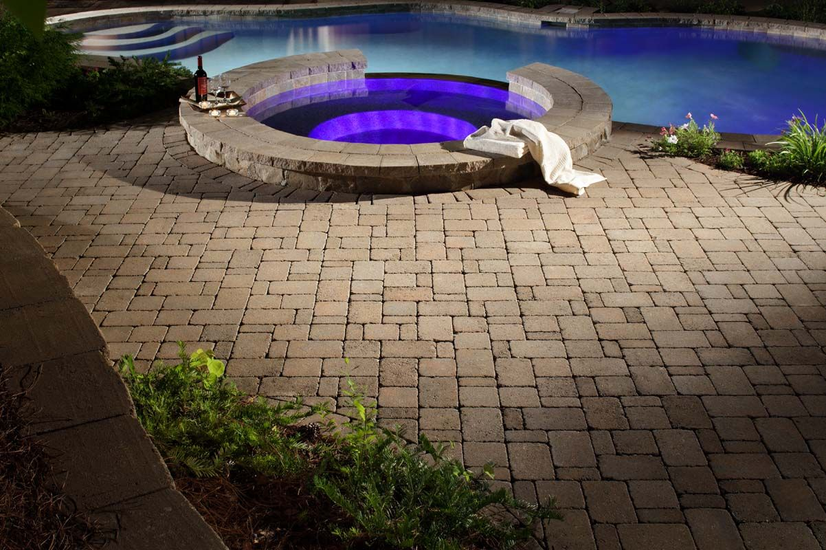 belgard dublin cobble in the backyard pinterest paver