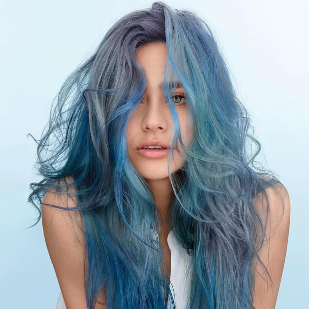 Картинки волосы голубого цвета