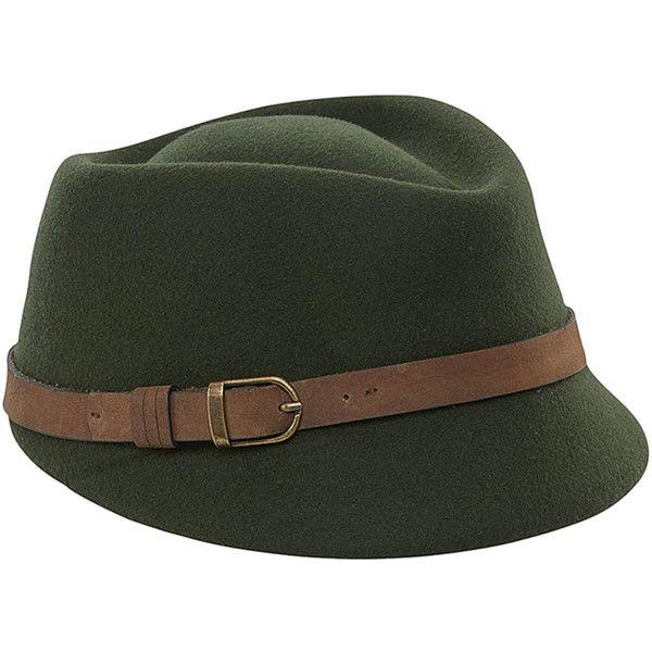 Women/'s San Diego Hat Company Felt Buckle Fedora Cap Hat