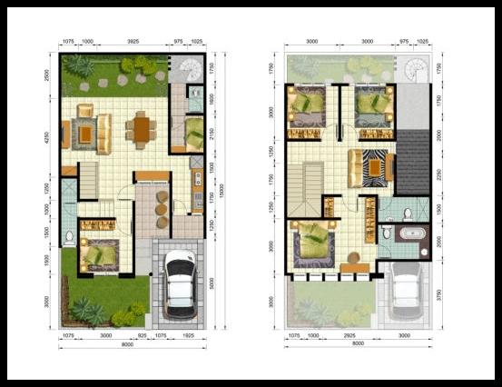 Desain Denah Rumah Minimalis Type 40  10 denah rumah minimalis 2 lantai type 200 denah rumah