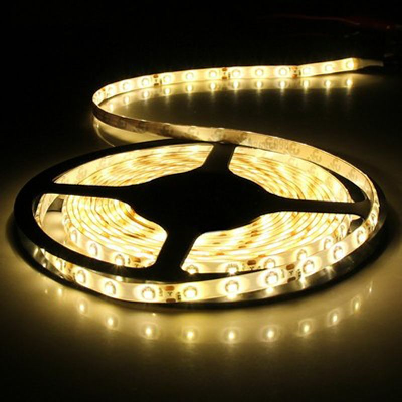 12V Waterproof Led Light Strips Alluring 5M 3528 Led Light Strip Rgbblueyellowredgreen Waterproof Strip Review